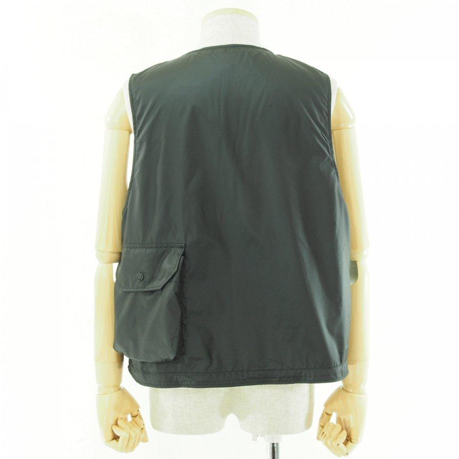 Engineered Garments - Cover Vest カバーベスト - Polyester Taffeta - Black