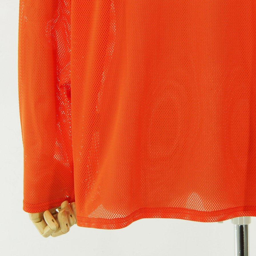 South2 West8 サウスツーウエストエイト - Side Slit Crew Neck Shirt サイドスリットクルーネックシャツ - Knit Mesh - Orange