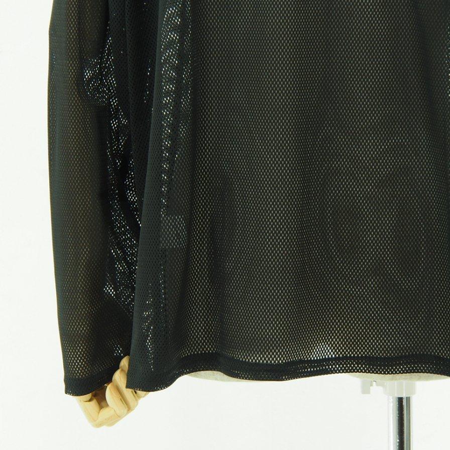 South2 West8 サウスツーウエストエイト - Side Slit Crew Neck Shirt サイドスリットクルーネックシャツ - Knit Mesh - Black