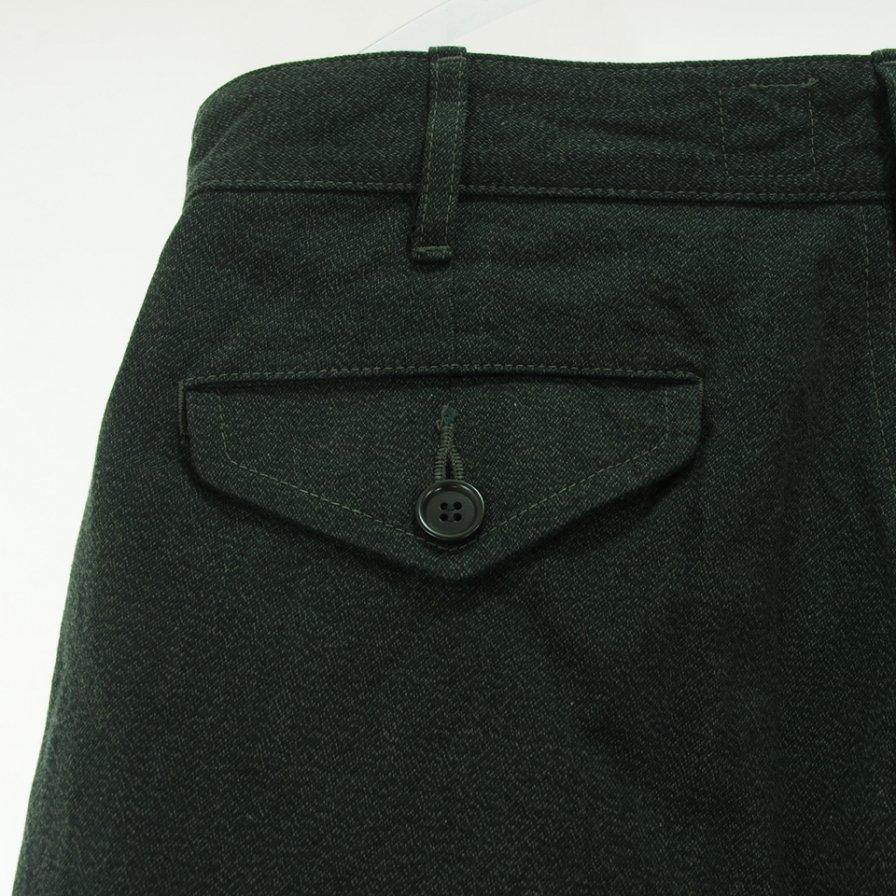 CORONA コロナ - 2T Desert Slacks ツータックデザートスラックス - S&P Cotton Work Twill - Top Charcoal