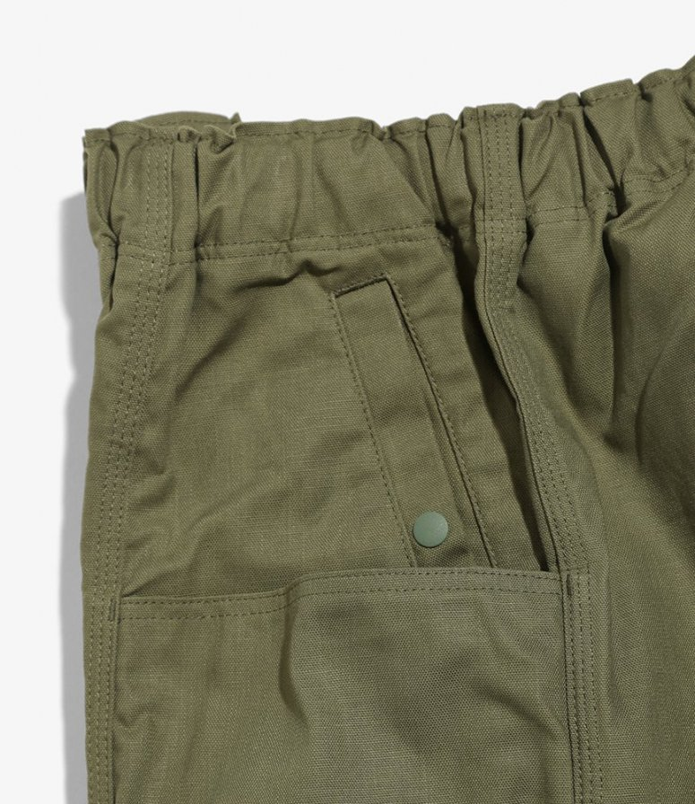 South2 West8 サウスツーウエストエイト - Belted C.S. Pant ベルテッドセンターシームパンツ - Oxford / Paraffin Coating - Olive