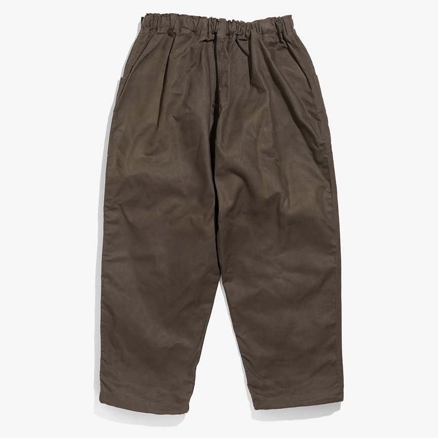 South2 West8 サウスツーウエストエイト - Belted C.S. Pant ベルテッドセンターシームパンツ - Oxford / Paraffin Coating - Dk.Brown