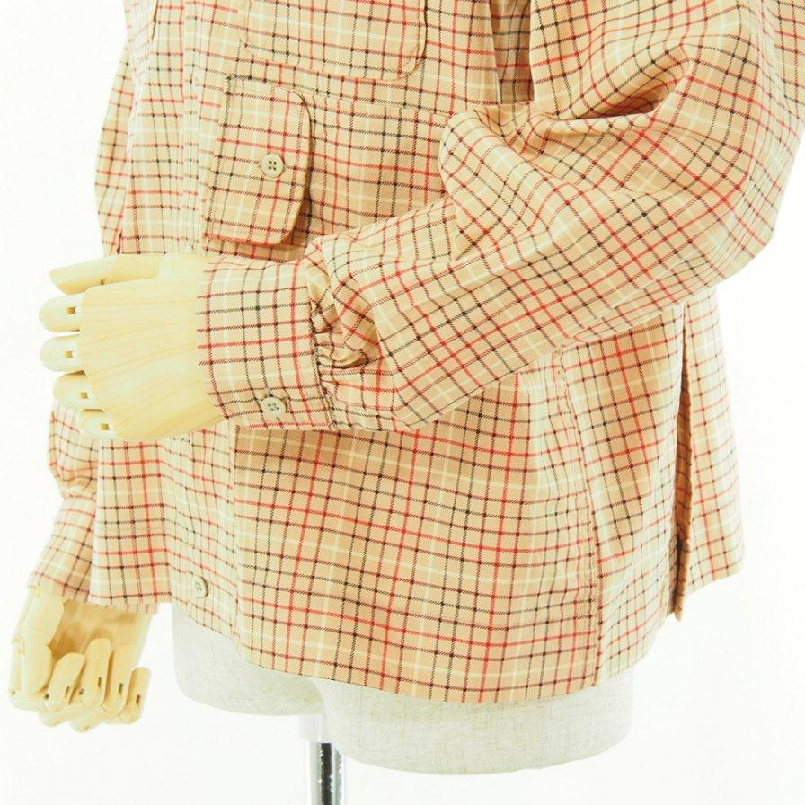 Engineered Garments エンジニアドガーメンツ - Bowling Shirt ボーリングシャツ - Cotton Printed Tattersall - Beige