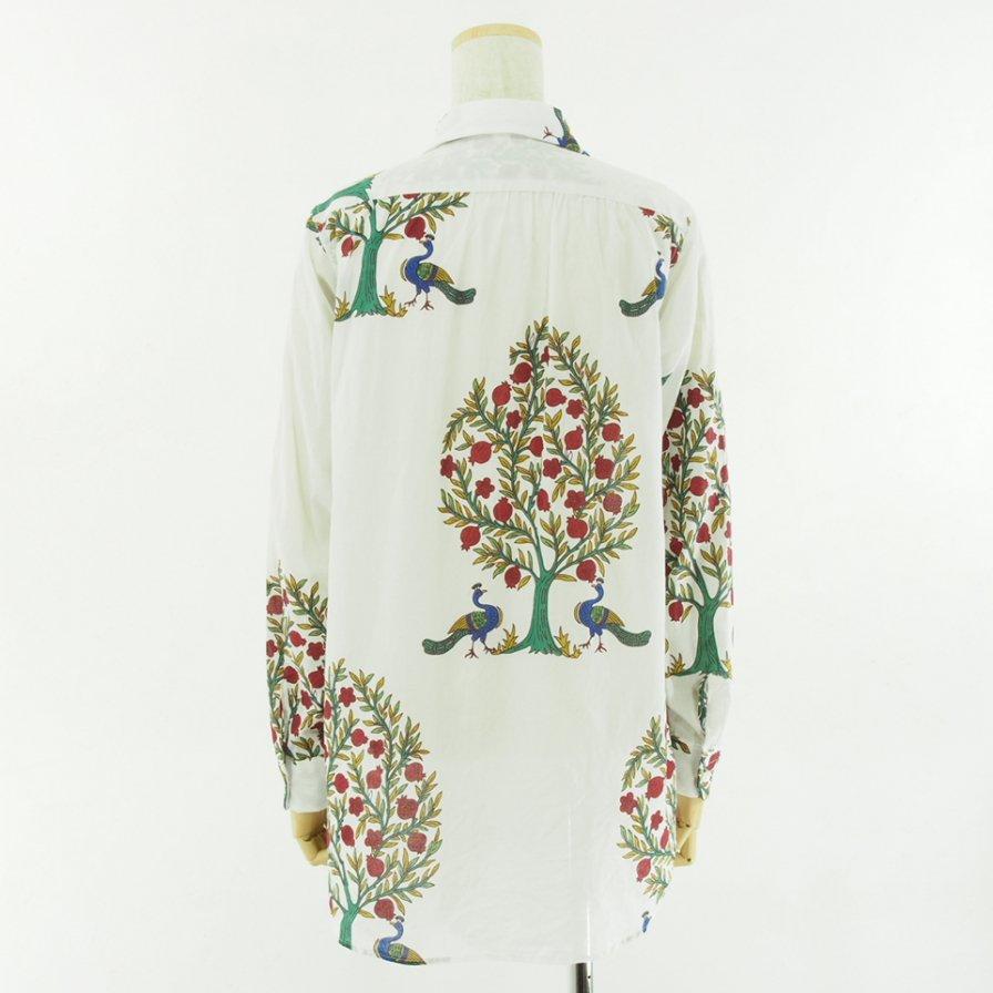 Engineered Garments Woman エンジニアドガーメンツウォメン - Rounded Collar Shirt ラウンドカラーシャツ - Cotton Lawn Peacock