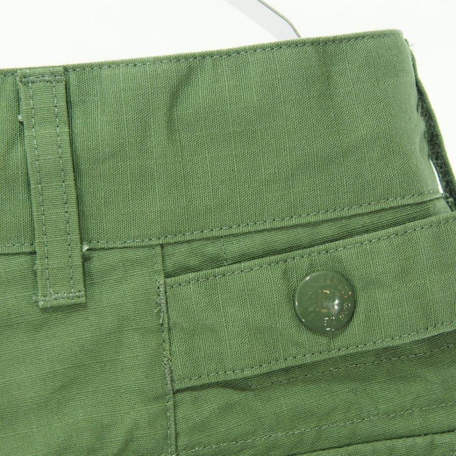 Engineered Garments エンジニアドガーメンツ - Ground Pant グラウンドパンツ - Cotton Ripstop -Olive