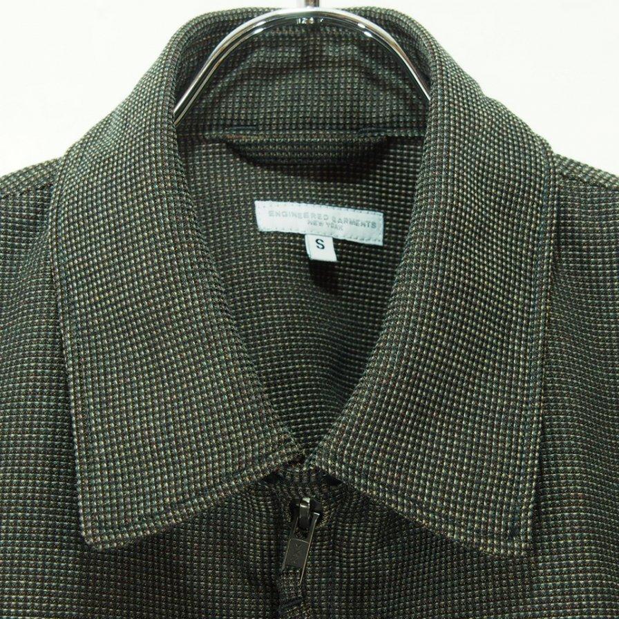 Engineered Garments エンジニアドガーメンツ - Claigton Jacket クレイトンジャケット - CP Waffle - Dk.Brown