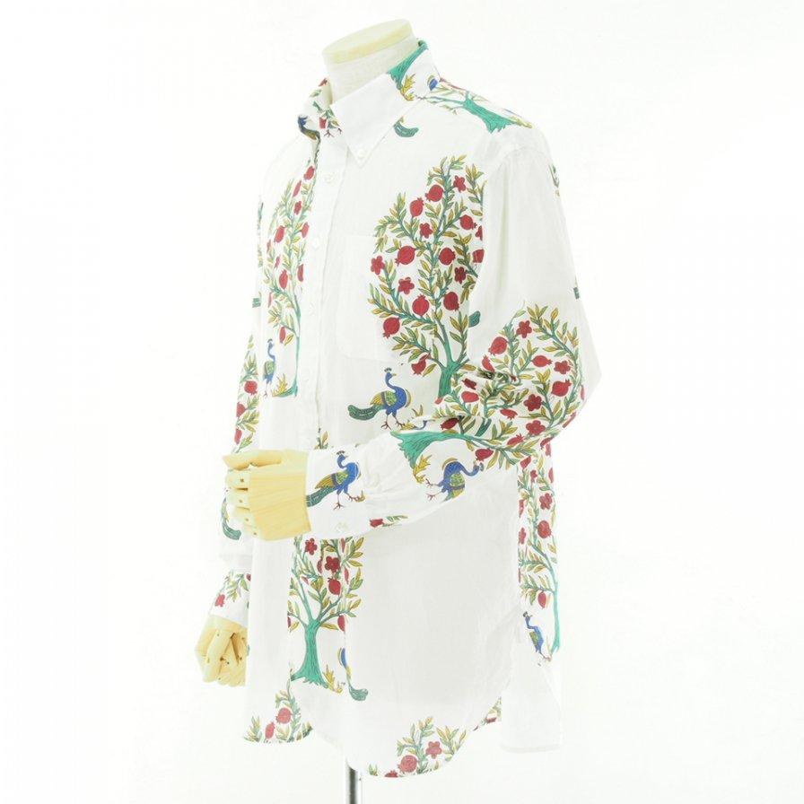 Engineered Garments エンジニアドガーメンツ - 19 Century BD Shirt - Cotton Lawn Peacock - Natural