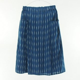 South2 West8 Woman サウスツーウエストエイトウォメン - Army String Skirt - Ikat Arrow - Navy