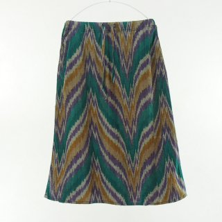 South2 West8 Woman サウスツーウエストエイトウォメン - String Skirt - Ikat Wave - Green