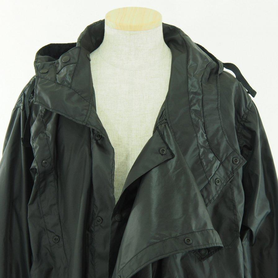 Engineered Garments エンジニアドガーメンツ - Sonor Shirt Jacket ソナーシャツジャケット - Polyester Taffeta - Black