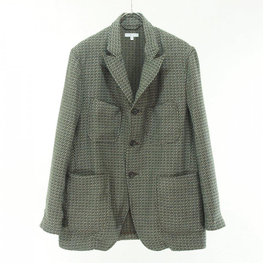 Engineered Garments エンジニアドガーメンツ - NB Jacket エヌビージャケット - Basketweave Cross Dobby - Brown