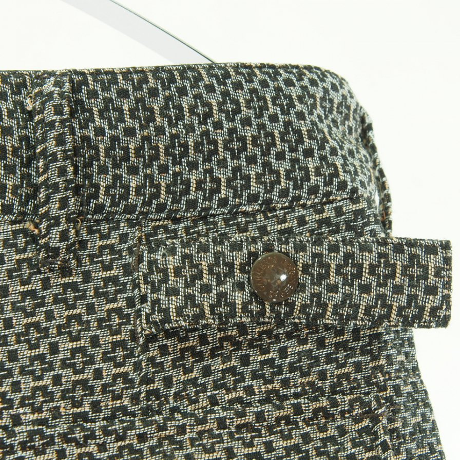 Engineered Garments エンジニアドガーメンツ - Ground Pant グラウンドパンツ - Basketweave Cross Dobby - Brown