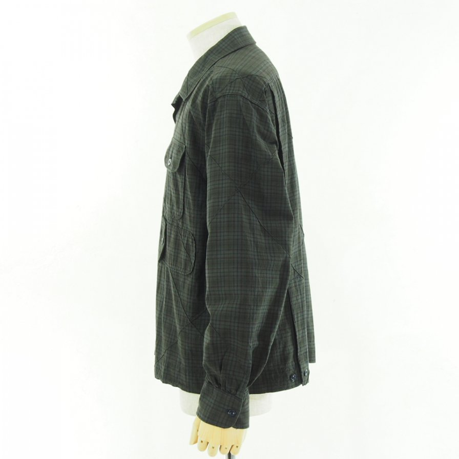 Engineered Garments エンジニアドガーメンツ - Bowling Shirt ボーリングシャツ - Cotton Pintuck Small Plaid