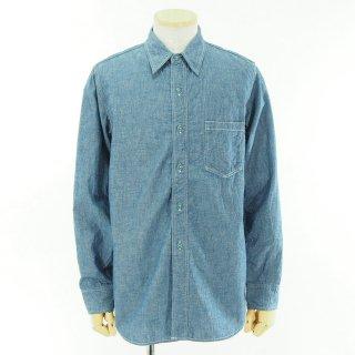 CORONA コロナ - Navy 1 Pocket Shirt ネイビーワンポケットシャツ - Cotton Chambray / Blue