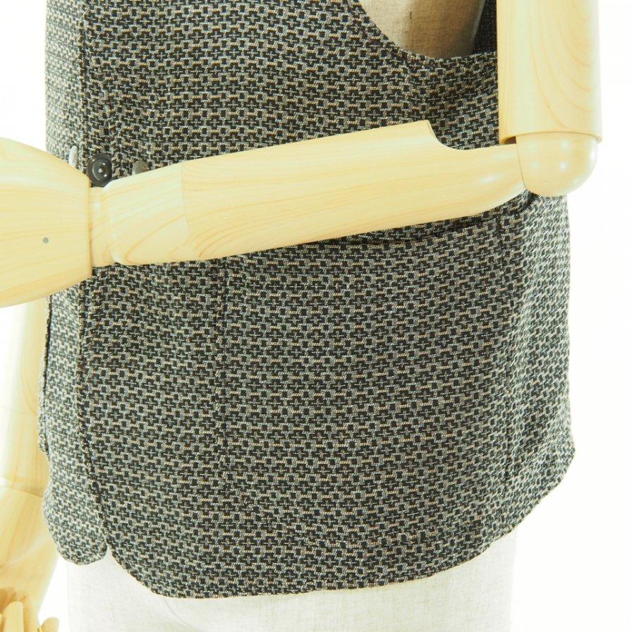 Engineered Garments エンジンニアドガーメンツ - Upland Vest アップランドベスト - Basketweave Cloth - Brown