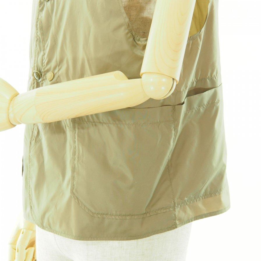 Engineered Garments エンジンニアドガーメンツ - Upland Vest アップランドベスト - Polyester Taffeta - Khaki