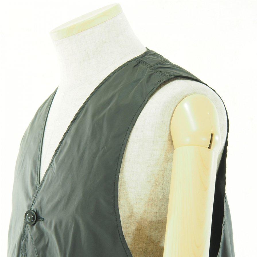 Engineered Garments エンジンニアドガーメンツ - Upland Vest アップランドベスト - Polyester Taffeta - Black