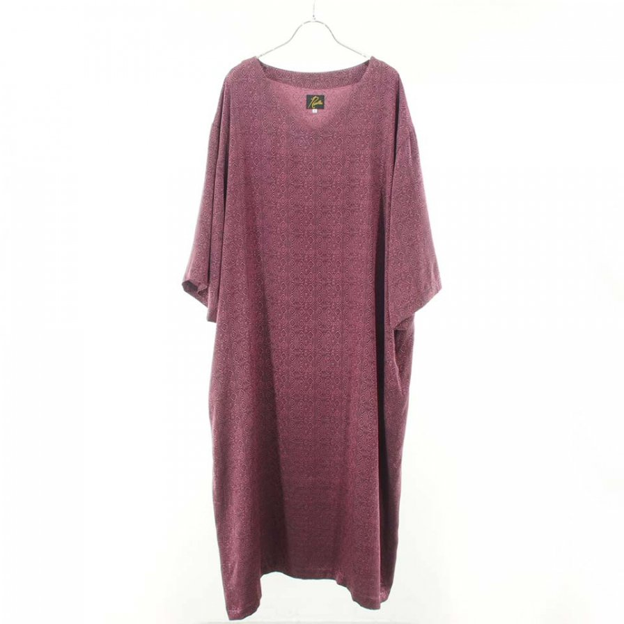 Needles Woman ニードルズウォメン - V Neck Dress - Fine Pattern Jq. - Diamond