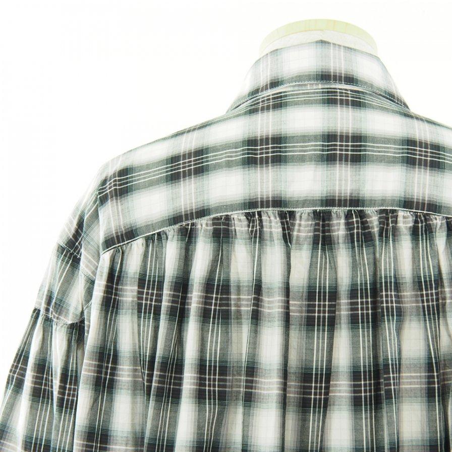 AiE エーアイイー - Painter Shirt ペインターシャツ - Cotton Shadow Plaid - Black/White/Purple