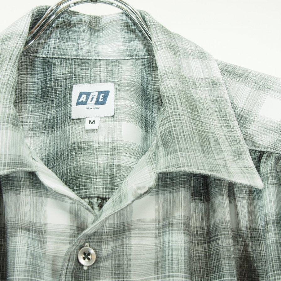 AiE エーアイイー - Painter Shirt ペインターシャツ - Polyester Shadow Plaid - Black/White
