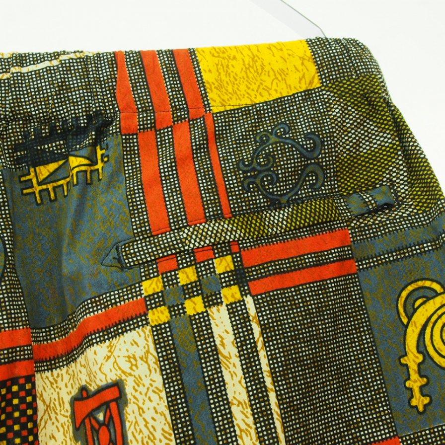 Engineered Garments エンジニアドガーメンツ - Drawstring Pant - ドローストリングパンツ - Cotton African Print - Black/Gold
