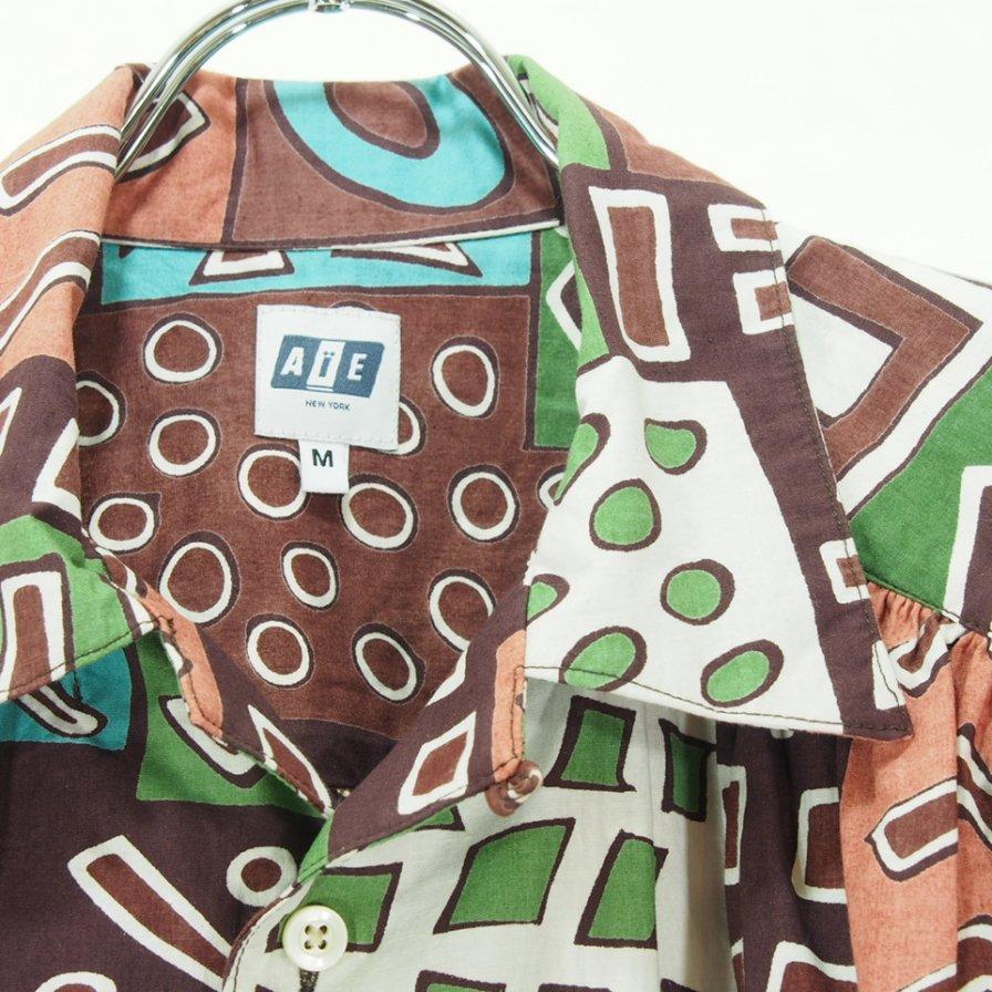 AiE エーアイイー - Painter Shirt ペインターシャツ - Cotton Art Block Check - Brown/Lt.Blue