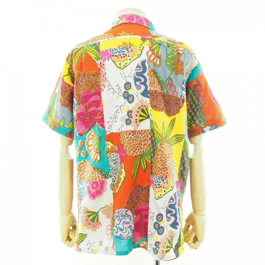 Engineered Garments エンジンニアドガーメンツ - Camp Shirt キャンプシャツ - Multi Collar Cotton Floral Patchwork