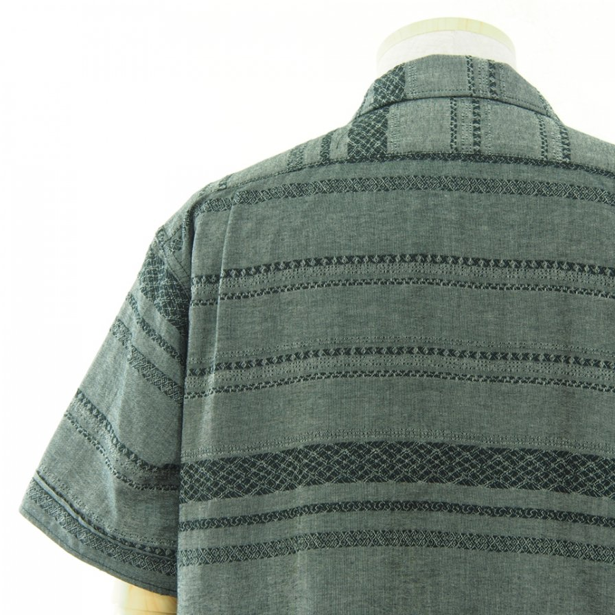Engineered Garments エンジンニアドガーメンツ - Camp Shirt キャンプシャツ - Horizontal Stripe Jacquard