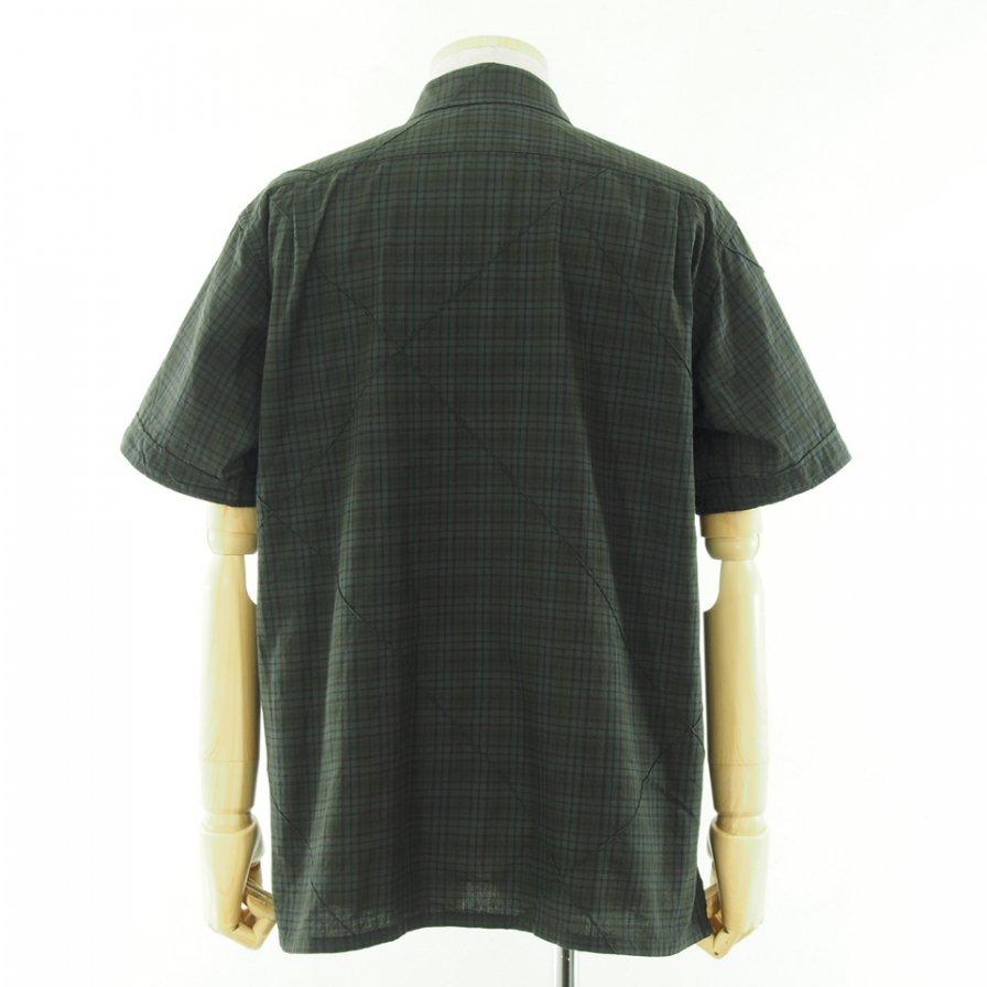 Engineered Garments エンジンニアドガーメンツ - Camp Shirt キャンプシャツ - Cotton Pintuck Small Plaid - Dk.Olive
