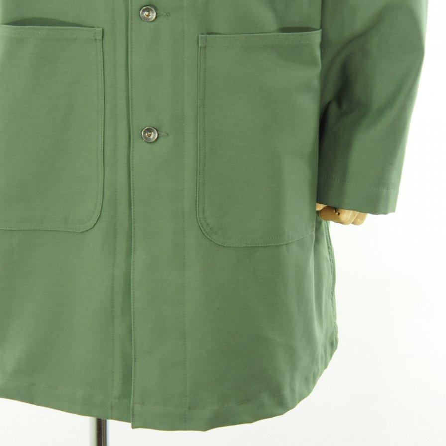 EG WORKADAY イージーワーカデイ - Shop Coat Printed ショップコート - Cotton Reversed Sateen - Olive