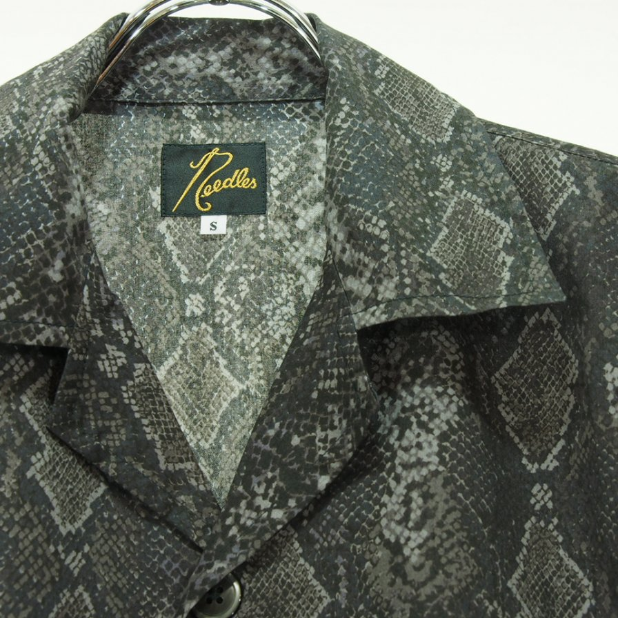 Needles ニードルズ - Cabana Shirt カバナシャツ - Python Pt. - Black