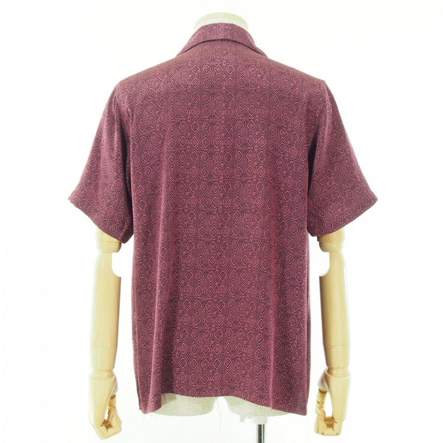 Needles ニードルズ - C.O.B. S/S One-Up Shirt カットオフボトムショートスリーブワンナップシャツ - Fine Pattern Jq. - Diamond