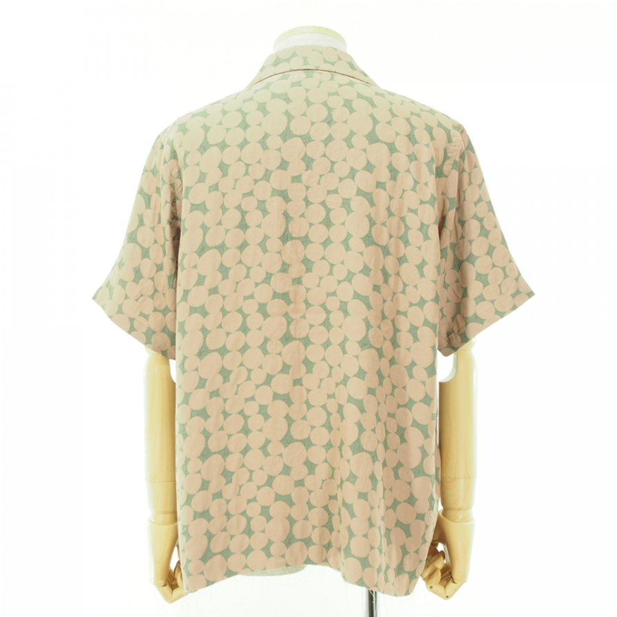 Needles ニードルズ - C.O.B. S/S One-Up Shirt カットオフボトムショートスリーブワンナップシャツ - Bubble Jq. - Grey/Pink