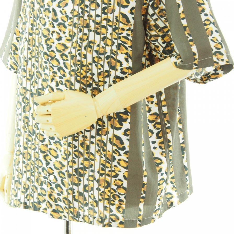 NOMA t.d. ノーマティーディー - Summer Shirt - Behind the Stripe - Leopard