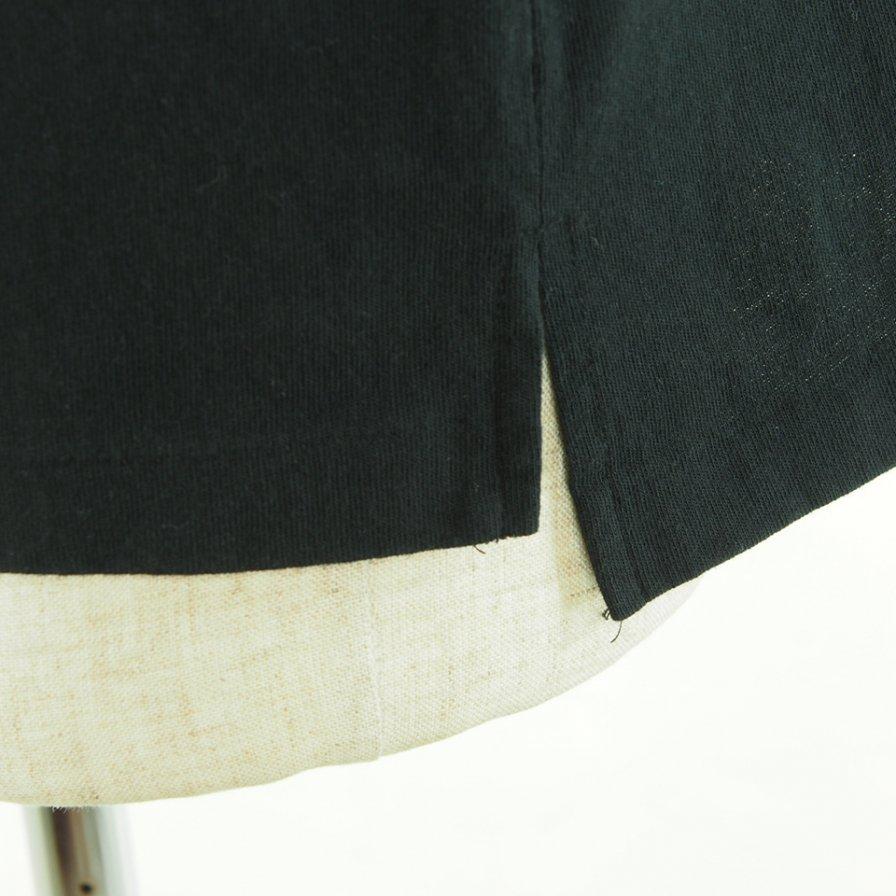 Engineered Garments エンジンニアドガーメンツ - Printed Cross Crew Neck T-Shirt / Square Geo - Black