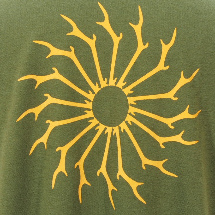 South2 West8 サウスツーウエストエイト - S/S Round Pocket Tee ショートスリーブラウンドポケットティー - Circle Horn - Olive