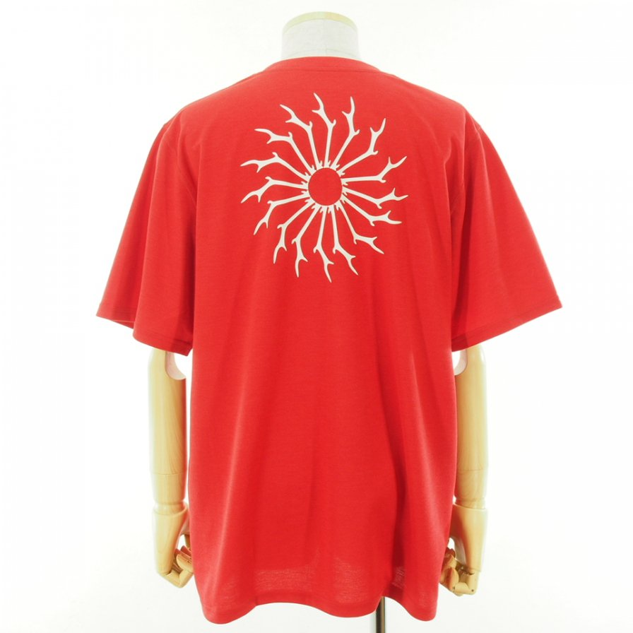 South2 West8 サウスツーウエストエイト - S/S Round Pocket Tee ショートスリーブラウンドポケットティー - Circle Horn - Red