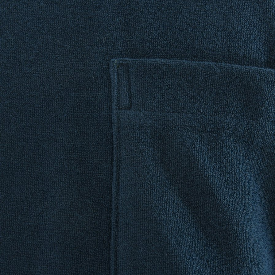 the conspires ザコンスパイアーズ - Mock Turtle Neck Pocket Tee - Navy