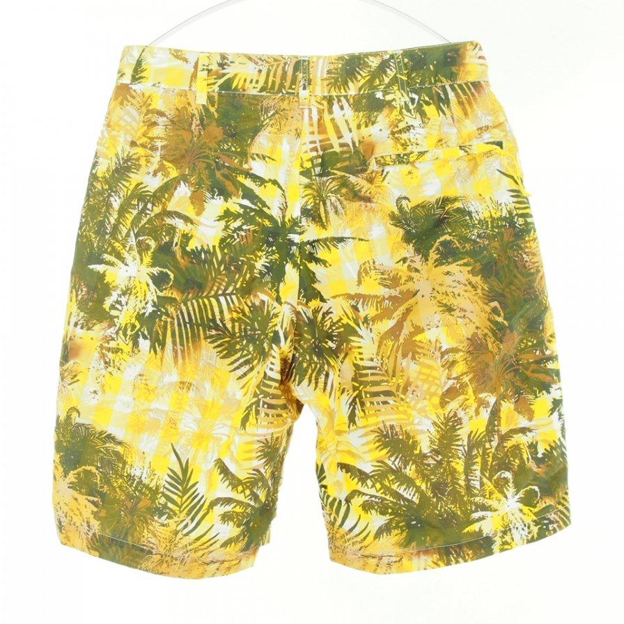 Engineered Garments エンジニアドガーメンツ - Sunset Short サンセットショーツ - Nylon Poly Tropical Floral Print - Yellow