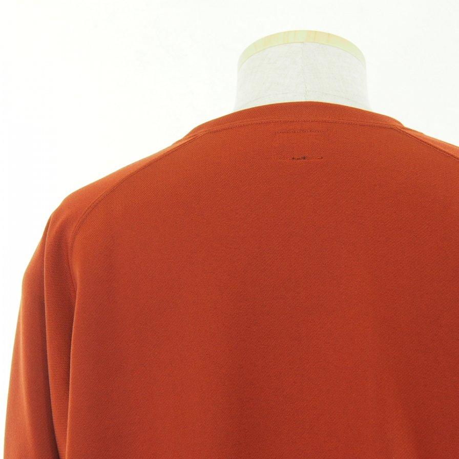Needles ニードルズ - L/S U Neck Tee ロングスリーブユーネックティー - C/Pe Bright Jersey - Brick