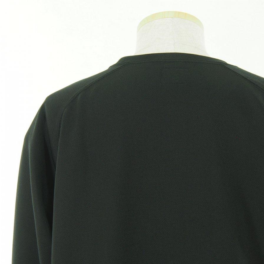 Needles ニードルズ - L/S U Neck Tee ロングスリーブユーネックティー - C/Pe Bright Jersey - Black