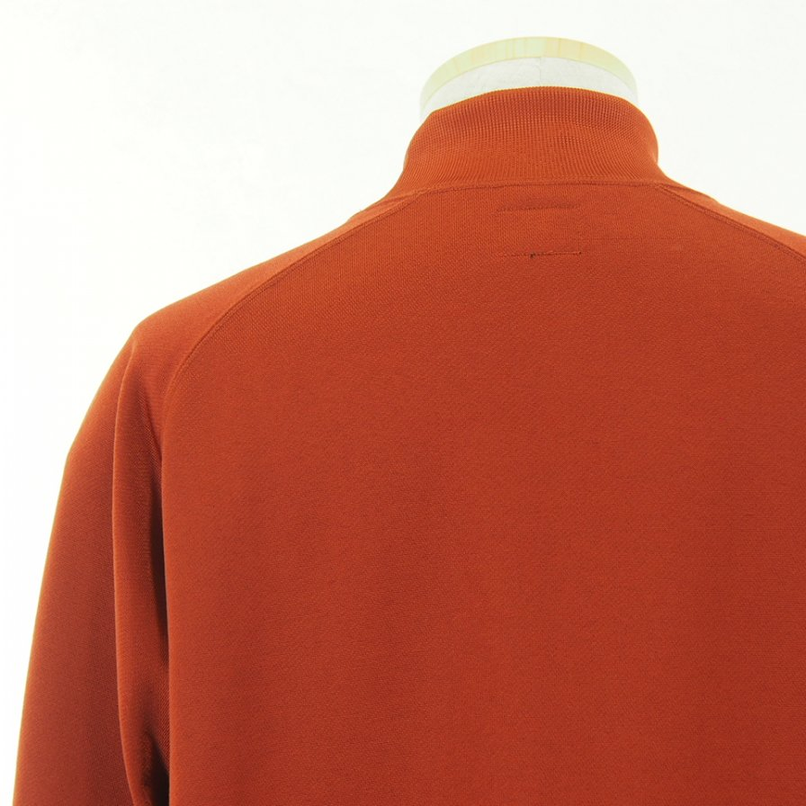 Needles ニードルズ - L/S Mock Neck Tee ロングスリーブモックネックティー - C/Pe Bright Jersey - Brick