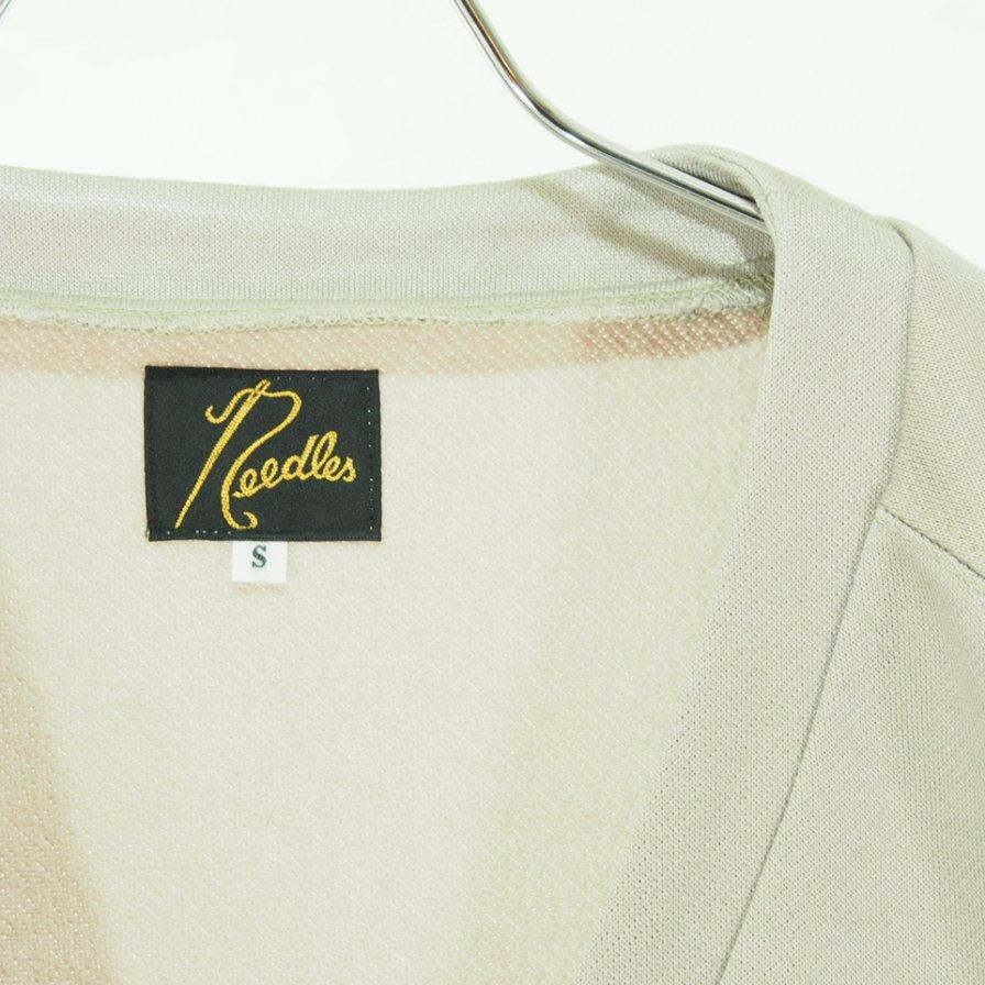 Needles ニードルズ - V Neck Cardigan ブイネックカーディガン - C/Pe Bright Jersey - Beige