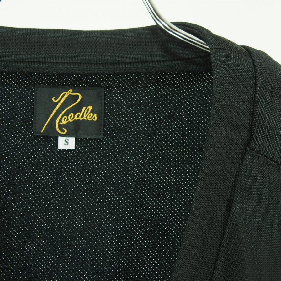 Needles ニードルズ - V Neck Cardigan ブイネックカーディガン - C/Pe Bright Jersey - Black