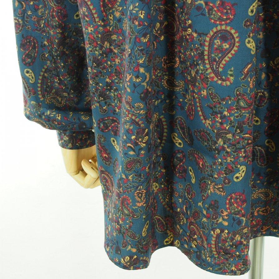 Needles ニードルズ - Pinhole EDW Shirt ピンホールエドワードシャツ - Cotton Sateen / Paisley Pt. - Blue
