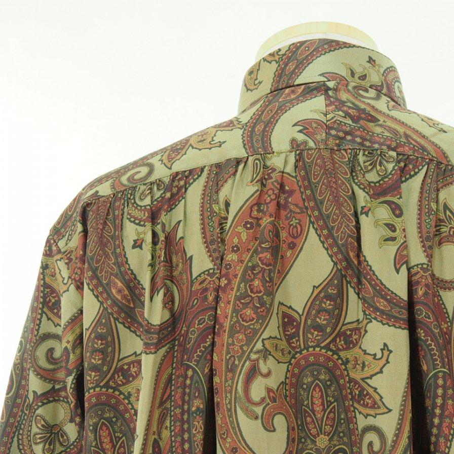 Needles ニードルズ - Pinhole EDW Shirt ピンホールエドワードシャツ - Cotton Sateen / Paisley Pt. - Khaki