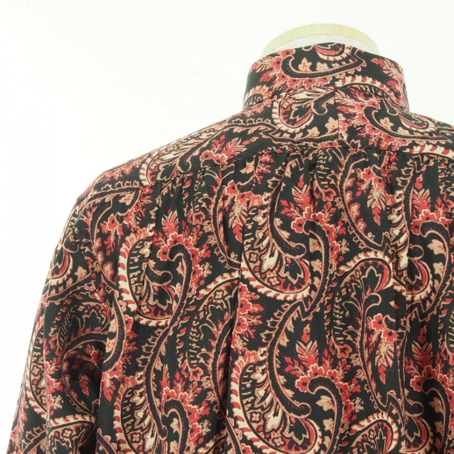 Needles ニードルズ - Pinhole EDW Shirt ピンホールエドワードシャツ - Cotton Sateen / Paisley Pt. - Black