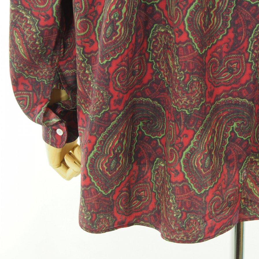 Needles ニードルズ - Pinhole EDW Shirt ピンホールエドワードシャツ - Cotton Sateen / Paisley Pt. - Red
