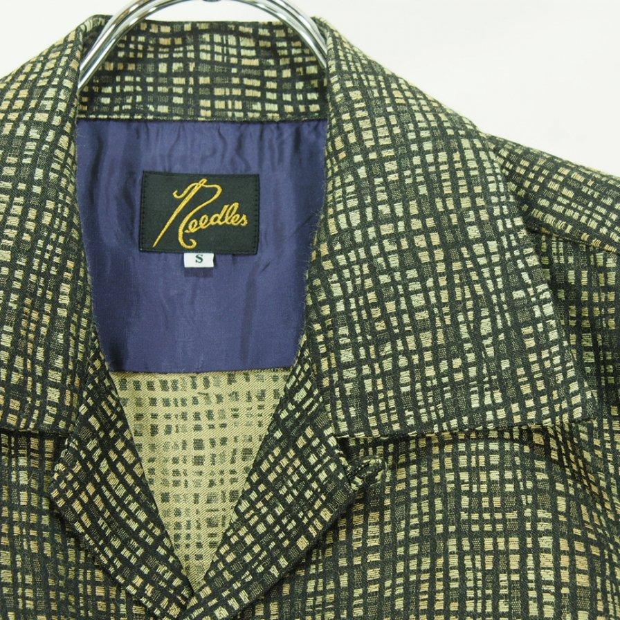 Needles ニードルズ - C.O.B. Classic Shirt カットオフボトムクラッシックシャツ - Pe/R/L Random Plaid Jq. - Black/Khaki