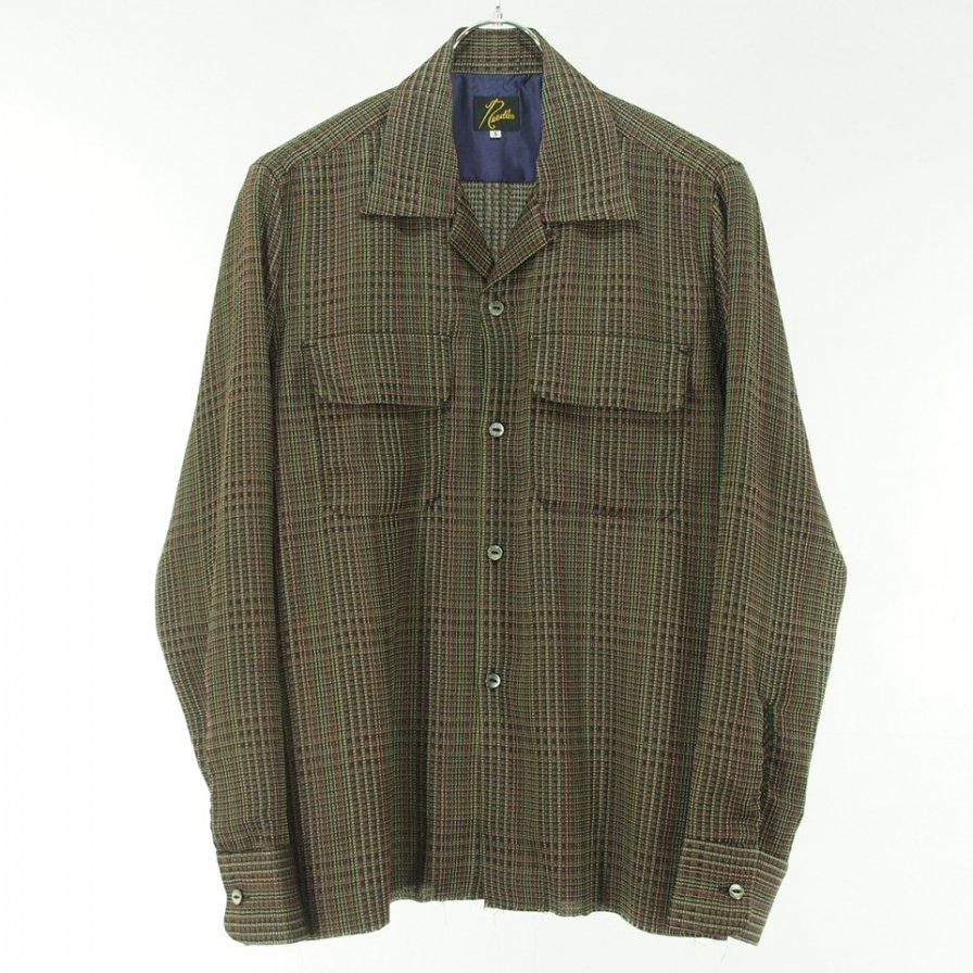 Needles ニードルズ - C.O.B. Classic Shirt カットオフボトムクラッシックシャツ -  Pe/W/Cu Fancy Plaid - Bordeaux/Red/yellow